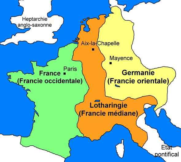 Partage au traité de Verdun