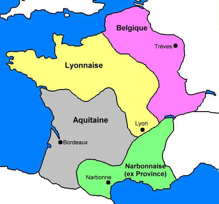carte de la gaule romaine HIStoire   Carte : Gaule romaine (administrative)