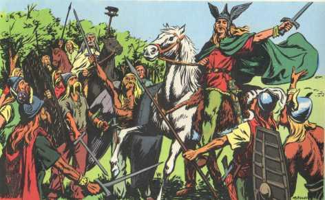 Vercingétorix, chef de l'armée gauloise